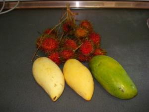 朝市で買ったトロピカルフルーツ
