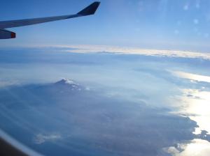 島原半島と普賢岳