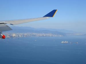 博多湾上空